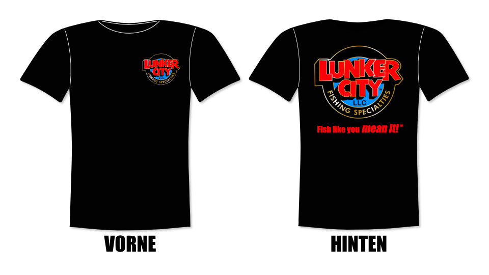 Lunker City T-Shirt schwarz